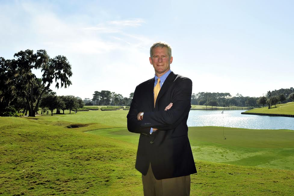 DECEMBER 3: Matt Rapp, SVP & Executive Director of THE PLAYERS in front of the 18th hole of the Stadium Course at TPC Sawgrass in Ponte Vedra Beach, FL on Tuesday, December 3, 2013. (Photo by Jennifer Perez/PGA TOUR)