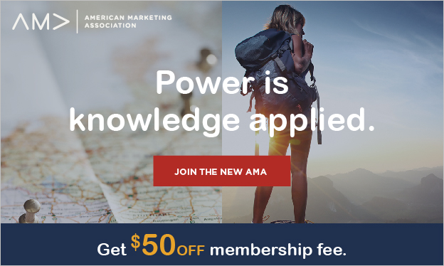 Join the AMA with Promocode AMASPRING & Save $50 off AMA Membership Fee